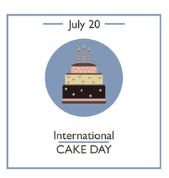 International cake day vector