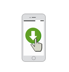 mobile download vector image