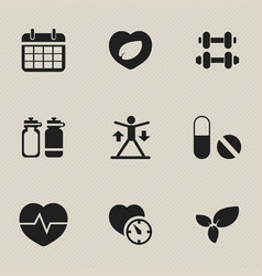 set of 9 editable sport icons includes symbols vector image