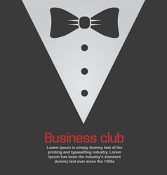 sticker suit with bow tie icon vector image