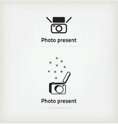 Creative symbol for a photographer vector
