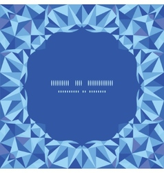 blue triangle texture circle frame seamless vector image