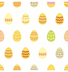 Tile pattern with easter eggs on white background vector