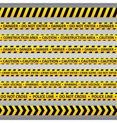 Danger tapes vector