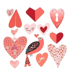 Graphic heart set vector
