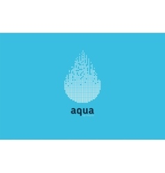 Aqua water logo blue element design shape vector