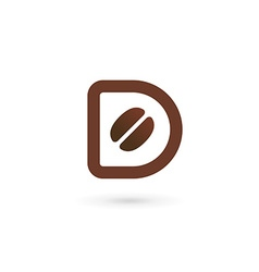 Letter D coffee logo icon design template elements vector image