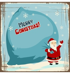 Retro santa claus background vector