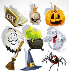 Halloween elements collection vector