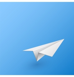 Abstract background with paper airplane vector image