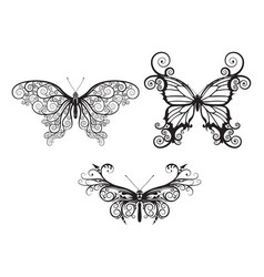 abstract butterflies vector image