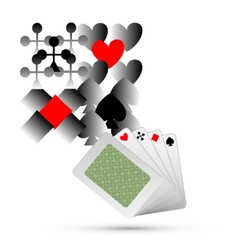 Abstract playing card elements background vector