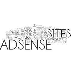 adsense is stupid when text word cloud concept vector image