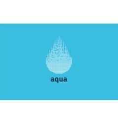 Aqua water logo blue element design shape vector image