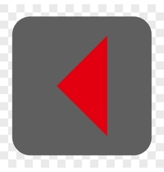 Arrowhead left rounded square button vector