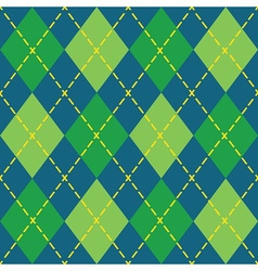 Blue and green trendy argyle seamless pattern vector