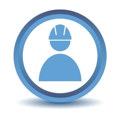 Blue Working icon vector image