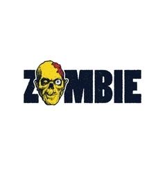 Cartoon zombie vector image