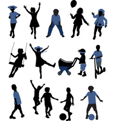 Children silhouettes - vector