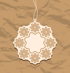 Christmas blank badge vintage style vector