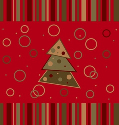 christmas striped card vector image vector image