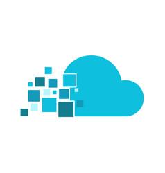 cloud fragment technology logo graphic design vector image