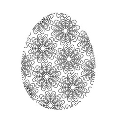coloring easter egg vector image vector image