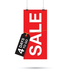 four days to go sale sign vector image vector image