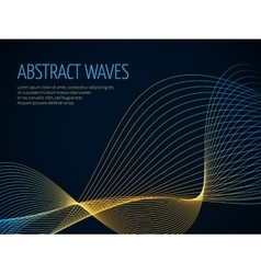 Futuristic abstract background with 3D vector image vector image