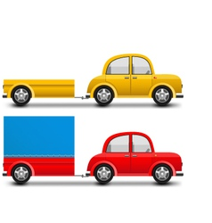 glossy car trailer vector image vector image