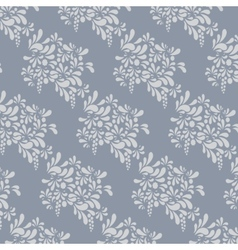 Grey floral pattern Endless background vector image vector image