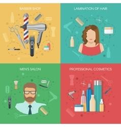 Hairdressing salon concept vector