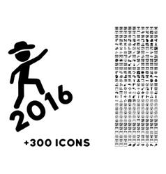 Human Figure Climbing 2016 Icon vector image