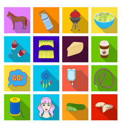 hygiene diet business and other web icon in flat vector image vector image