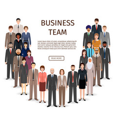 international business team group of office vector image vector image