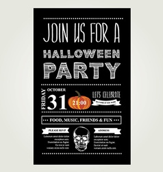 Invitation halloween vector
