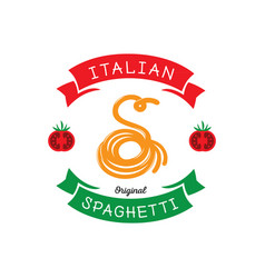 Original spaghetti with s letter typography vector