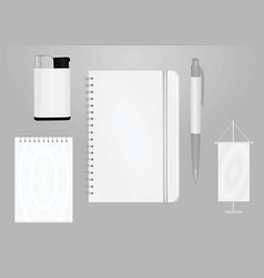 Promotional items template vector