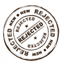 rejected ink stamp vector image vector image