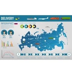 Russian federation transportation and logistics vector