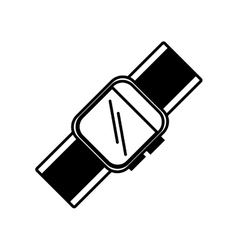 Smart watch wearable technology outline vector