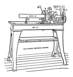 Spindle centering vintage vector