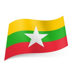 State flag of republic of the union of myanmar vector