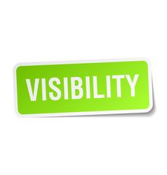 Visibility square sticker on white vector