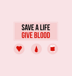 World blood donor day background style vector