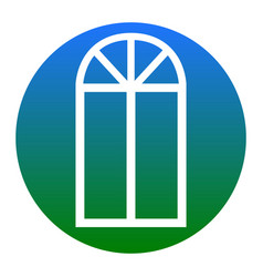 window simple sign white icon in bluish vector image