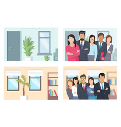 Business people and offices set vector