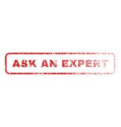 Ask an expert rubber stamp vector