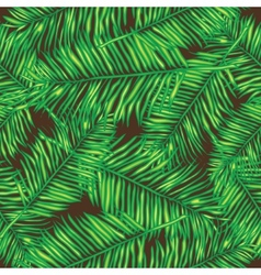 Palm leaves seamless background floral vector
