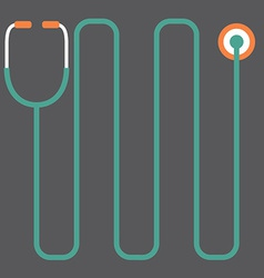 Modern design stethoscope vector
